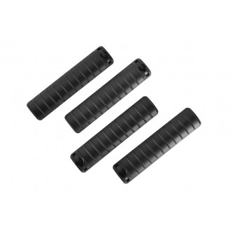 Golden Eagle 4X Picatinny / Weaver 20mm Airsoft Rail Covers - BLACK