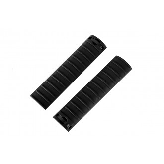 CYMA Airsoft 15-Slot Handguard RIS Rail Cover Panels Set of 2 - BLACK