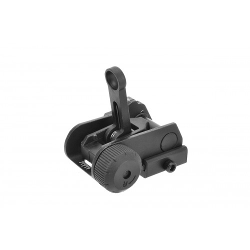 A&K Airsoft SR25/M4/M16 Flip-Up 600M Rear Iron Sight