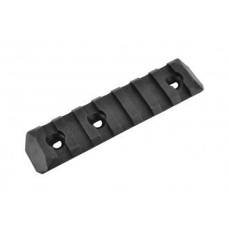 PTS Enhanced 7-Slot Polymer KeyMod Airsoft Rail Section - BLACK
