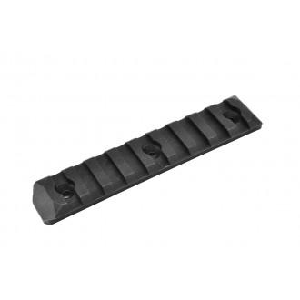 PTS Enhanced 9-Slot Polymer KeyMod Airsoft Rail Section - BLACK