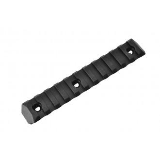 PTS Enhanced 11-Slot Polymer KeyMod Airsoft Rail Section - BLACK