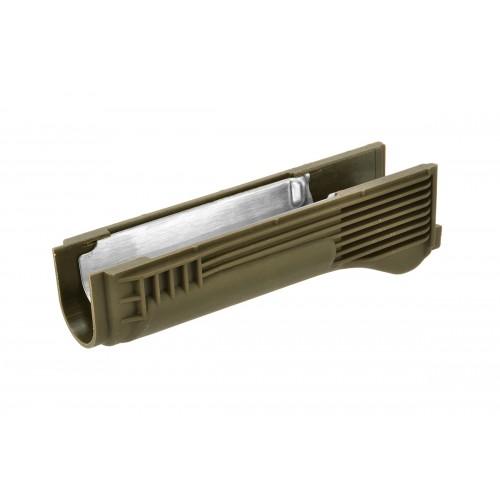 LCT Airsoft AK Series AEG Plastic Lower Handguard - OLIVE