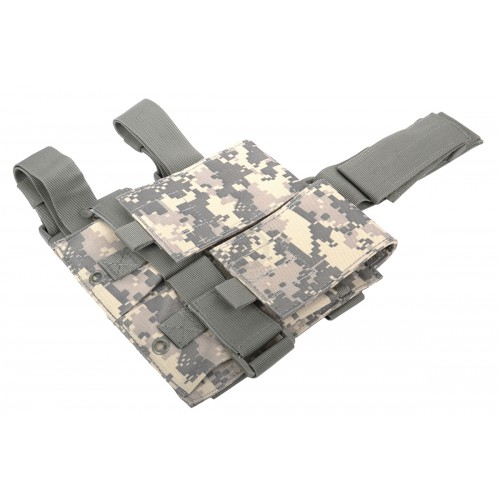 AMA Double M4 Airsoft Magazine Drop Leg Pouch - ACU