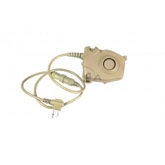 AMA Tactical Airsoft Z112 Motorola PTT - 2-Pin - DARK EARTH