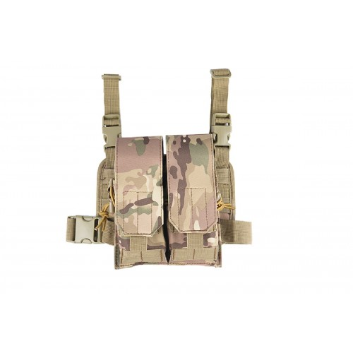 Lancer Tactical Airsoft 2x2 Magazine Pouch Leg Rig - CAMO