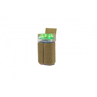 UK Arms 3-LED Green Flashing Beacon w/ Hook and Loop System - TAN