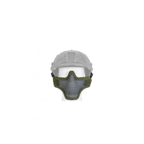UK Arms Airsoft Tactical Metal Mesh Half Mask Helm Vers - OLIVE DRAB