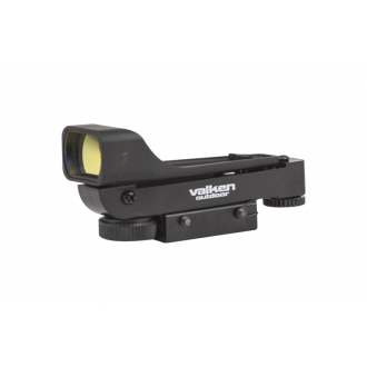 Valken Airsoft V Tactical Molded Red Dot Sight-Dual Mount - BLACK