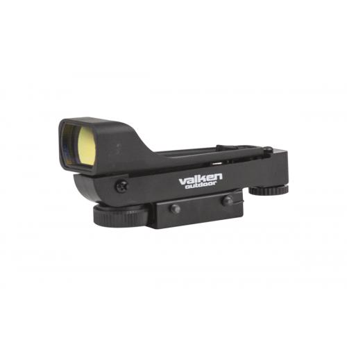 Valken Airsoft V Tactical Molded Red Dot Sight-Dual Mount - BLACK