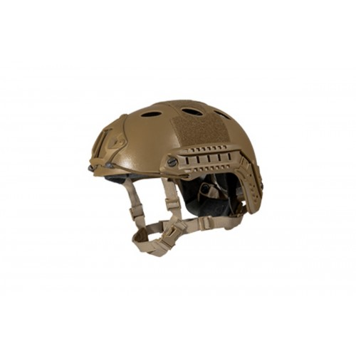 Lancer Tactical FAST PJ Ballistic Type Tactical Gear Helmet - DE - M/L