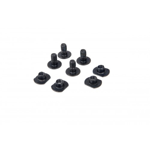 Lancer Tactical Airsoft Helmet 4-piece Screw Set - BLACK