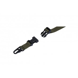 Lancer Tactical Airsoft Quick Detach 2-Point Padded Weapon Sling - OD GREEN