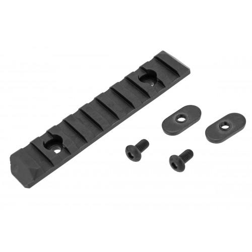 PTS Syndicate Airsoft Enhanced 9-Slot KeyMod Rail Section - BLACK