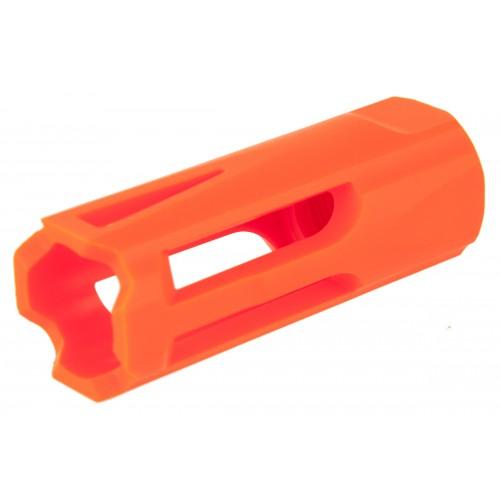Krytac Airsoft 14mm Plastic Flash Hider Replacement - ORANGE