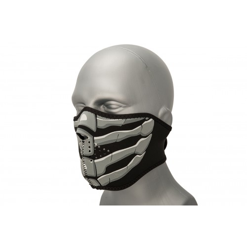 Zan Headgear Airsoft Neoprene Half Mask - BONE BREATH