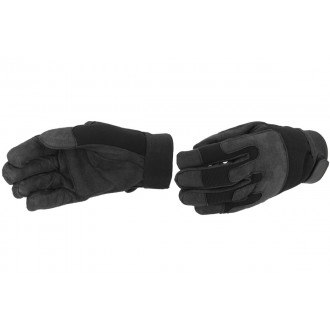 UK Arms Airsoft Army Gloves w/ Wrist Straps - MEDIUM - BLACK