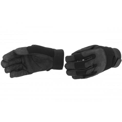UK Arms Airsoft Army Gloves w/ Wrist Straps - MEDIUM - BLACK