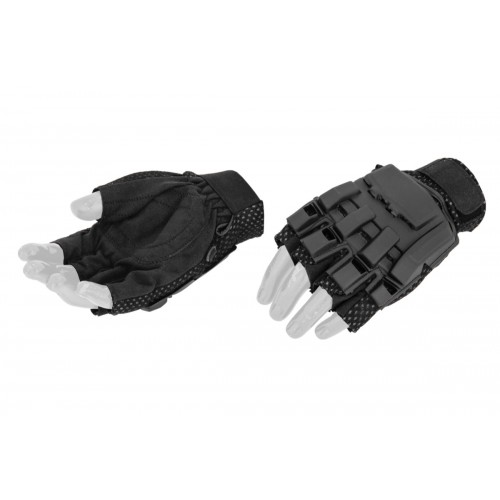 AMA Airsoft Half Finger Paintball Gloves (X SMALL) BLACK