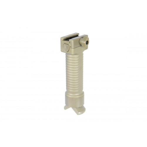 UK Arms Airsoft Tactical Fore Grip Rail Bi-Pod System - TAN
