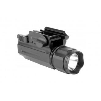 AIM Sports 220 Lumens Tactical Flashlight w/ Quick Release Mount