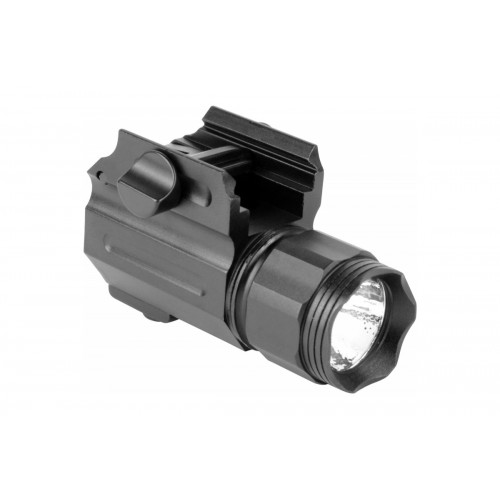 AIM Sports 220 Lumens Compact Flashlight w/ Quick Release Mount