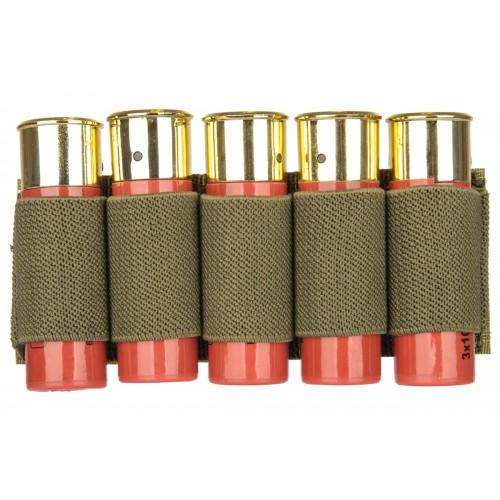 Lancer Tactical Airsoft Elastic Shotgun Shell Holder - OD