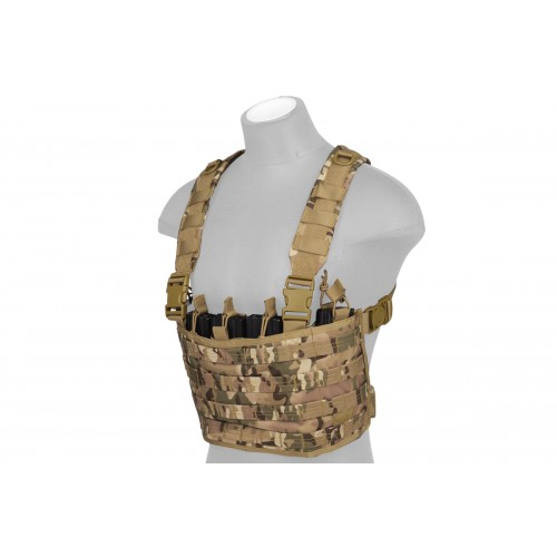 Lancer Tactical Lightweight Magazine Pouch Chest Rig - CAMO TROPIC