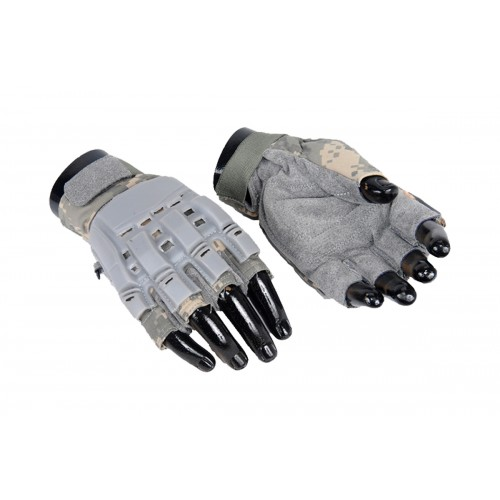 UK Arms Airsoft Tactical Armored Half Finger Gloves XS - TAN