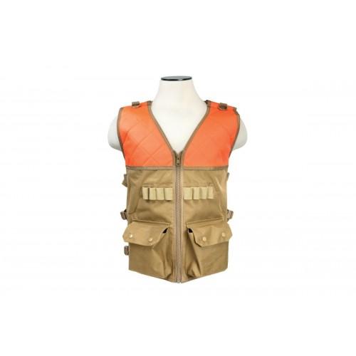 NcStar VISM PVC Outdoor Hunting Vest - BLAZE ORANGE/TAN