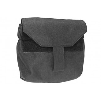 Airsoft Megastore Armory Tactical MOLLE Gas Mask 1000D Nylon Pouch - BLACK