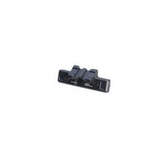 ARES Metal 45 Degree 2-Slot Mount for Keymod System - BLACK