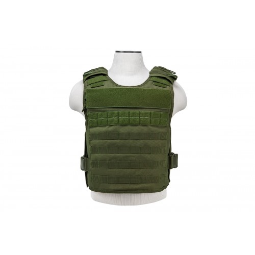 NcStar Tactical Airsoft MOLLE Plate Carrier Vest - OD