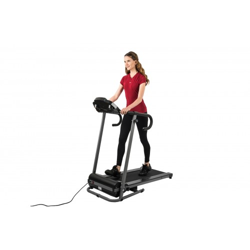 AuWit 1100W Motor Fitness Machine w/ Folding Treadmill - BLACK