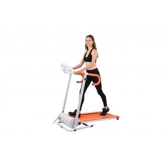 AuWit 1100W Motor Fitness Machine w/ Folding Treadmill - ORANGE