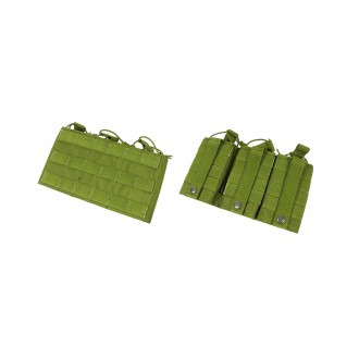 AMA Triple Wedge Cordura Airsoft Magazine MOLLE Pouch - OLIVE DRAB