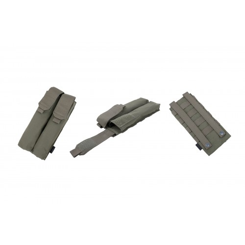 AMA MOLLE P90 Double Magazine Airsoft Pouch - RANGER GREEN