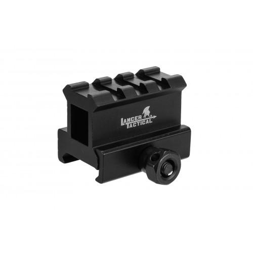 Lancer Tactical 2-Slot MED-Profile Airsoft Riser Mount - BLACK