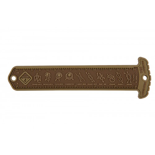 Hazard 4 Rubber MOLLE Cheatstick #3 Common Knots - COYOTE