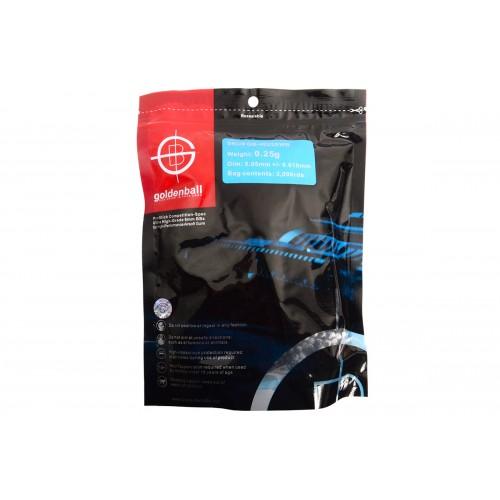 Doorbuster: 0.25g GoldenBall 6mm Airsoft BBs - 3000rd Bag - BLACK & WHITE