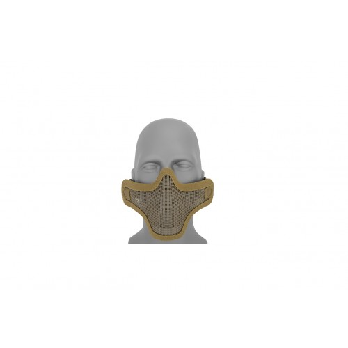 Doorbuster: UK Arms Airsoft Tactical Metal Mesh Half Mask - TAN