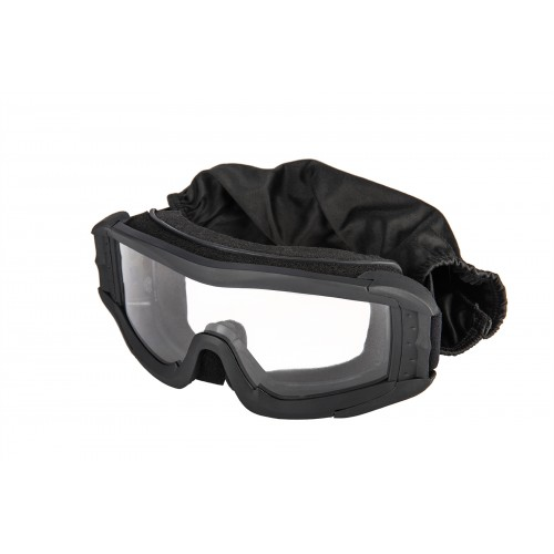 Doorbuster: Lancer Tactical Airsoft Polycarbonate Safety Lens Goggles w/ UV400 Lens - BLACK