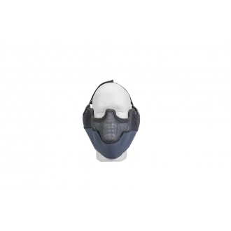 Doorbuster: UK Arms Airsoft Metal Mesh Lower Half Face Mask w/ Ear Pro - GRAY