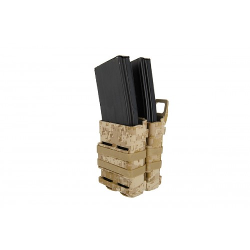 Doorbuster: AMA Airsoft Double M4/M16 Magazine Pouch - DESERT DIGITAL