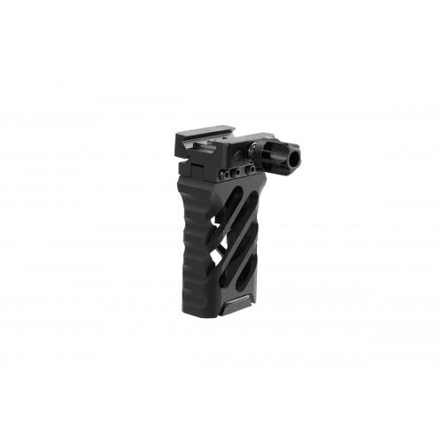 Atlas Custom Works 3.25-Inch Cross Hatch Design QD Foregrip - BLACK