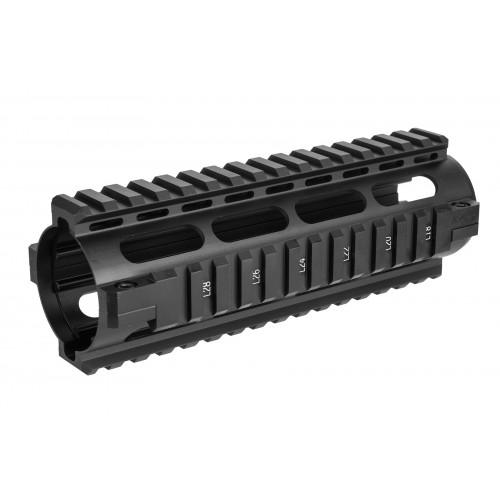 NcStar AR15 Carbine Length Quad Rail System - BLACK