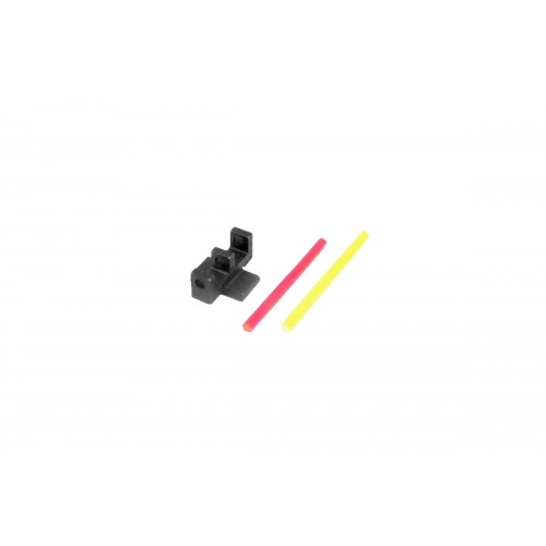 5KU Interchangable Fiber Sight for Marui Hi-Capa (Type-1) - YELLOW/PINK