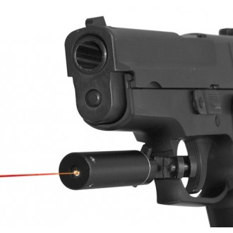 NcStar Universal Pistol Red Laser Sight - With Mounting Kit
