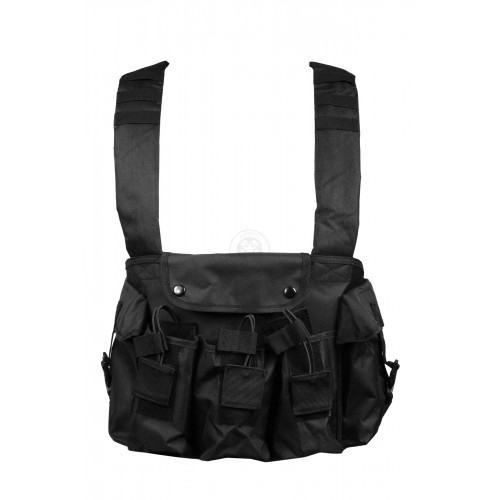 NcStar Tactical 6 Pocket AK Chest Rig - Black