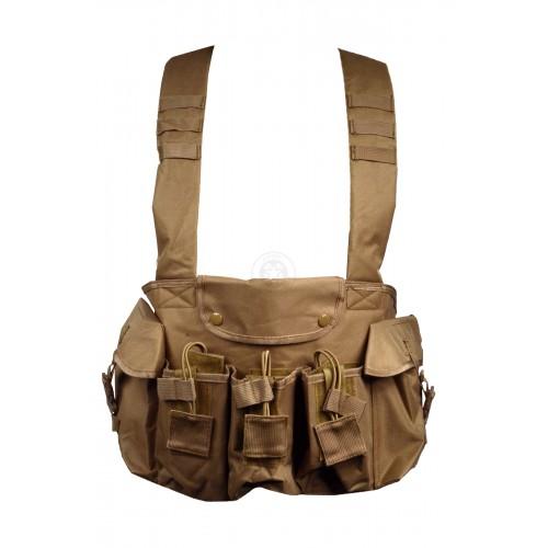 NcStar Tactical 6 Pocket AK Chest Rig - TAN